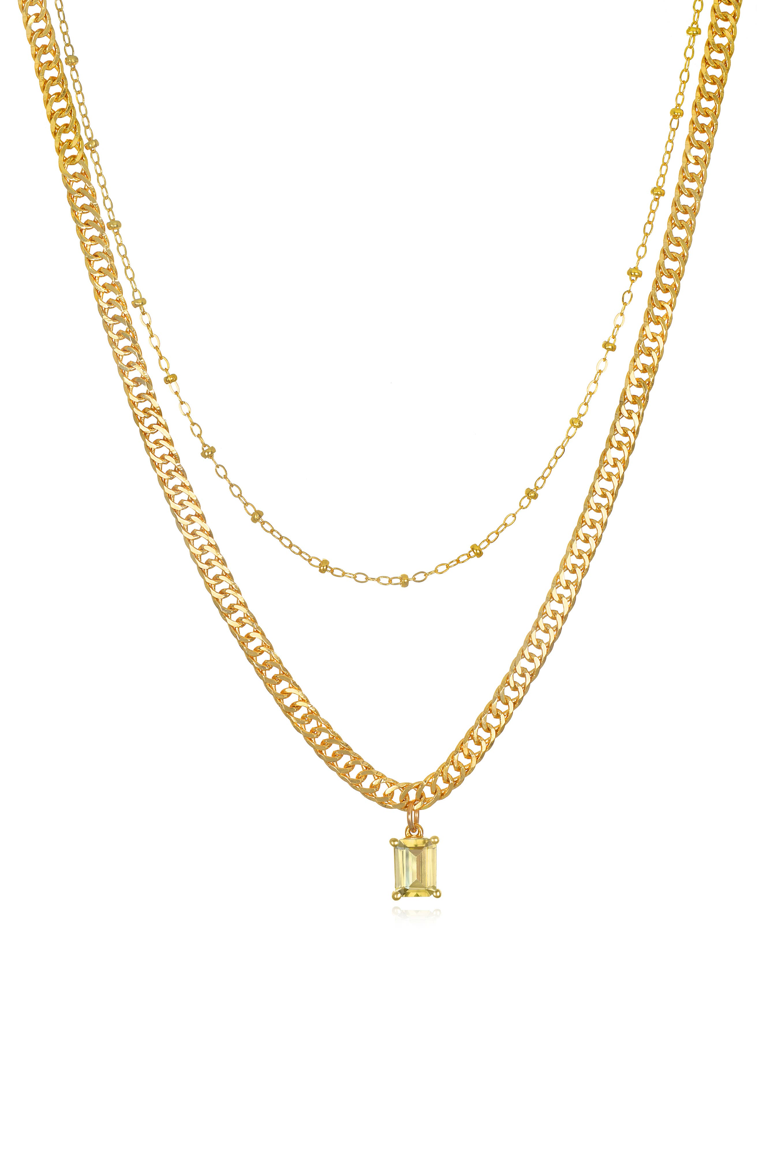 Layered Curb Necklace