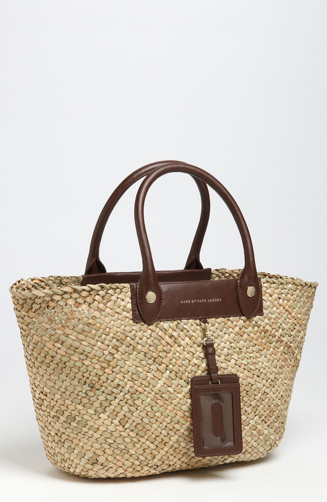 ,                             MARC BY MARC JACOBS 'Preppy' Straw Tote,                             Main thumbnail 1, color,                             247