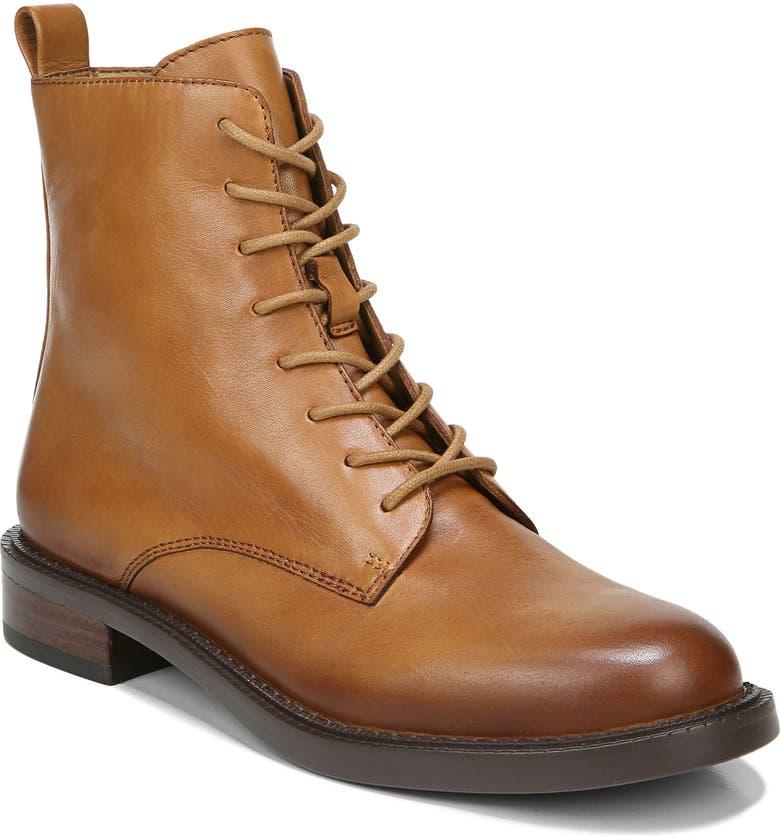 SAM EDELMAN Nina Lace-Up Boot, Main, color, CASHEW LEATHER