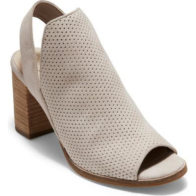 Cole Haan Callista Perforated Slingback Sandal, Grey