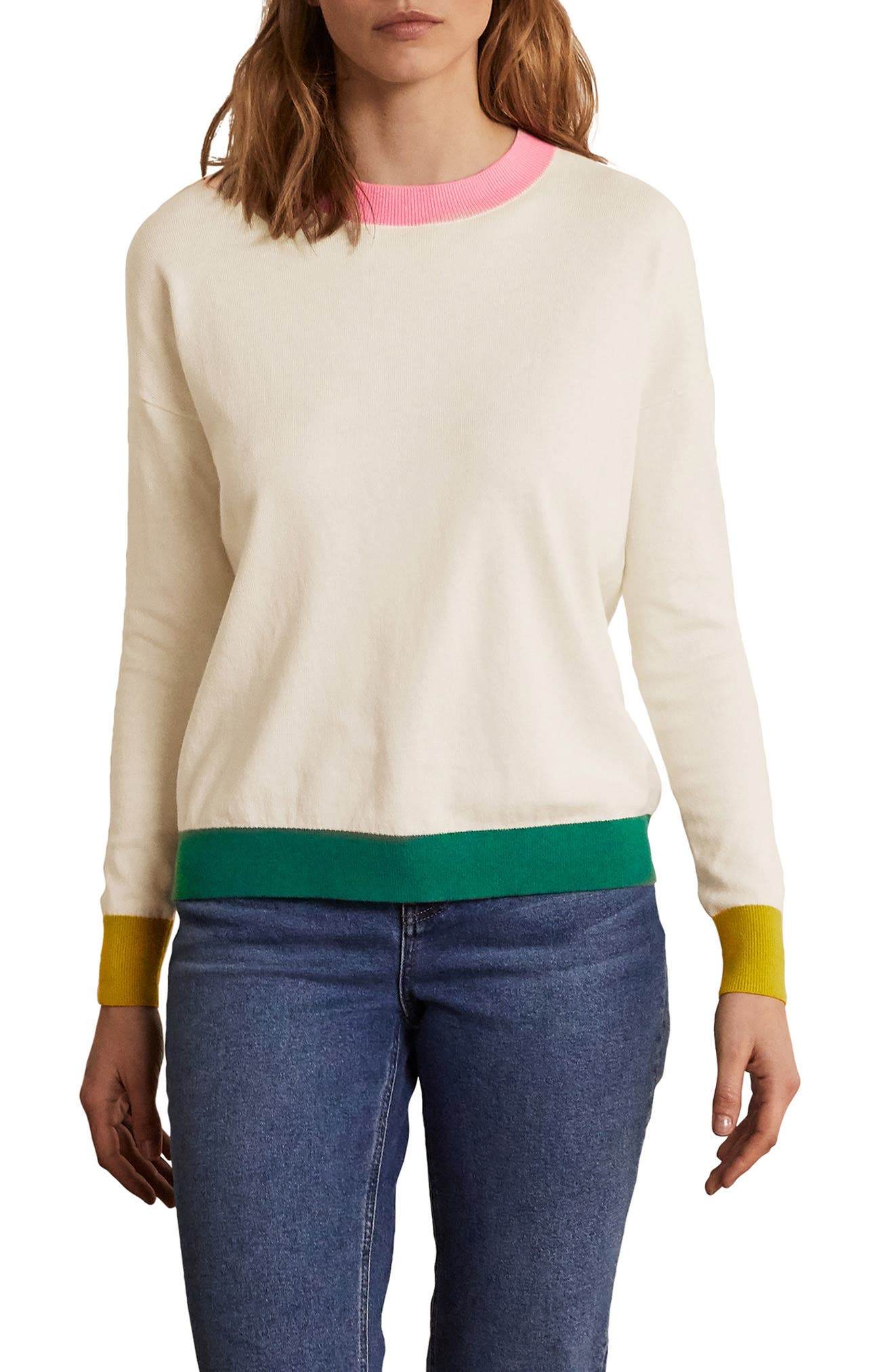 Relaxed Cotton & Wool Sweater