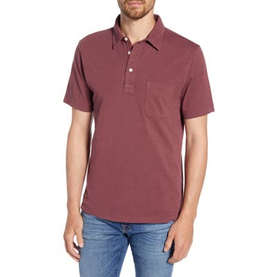 Faherty Sunwashed Regular Fit Polo, Red