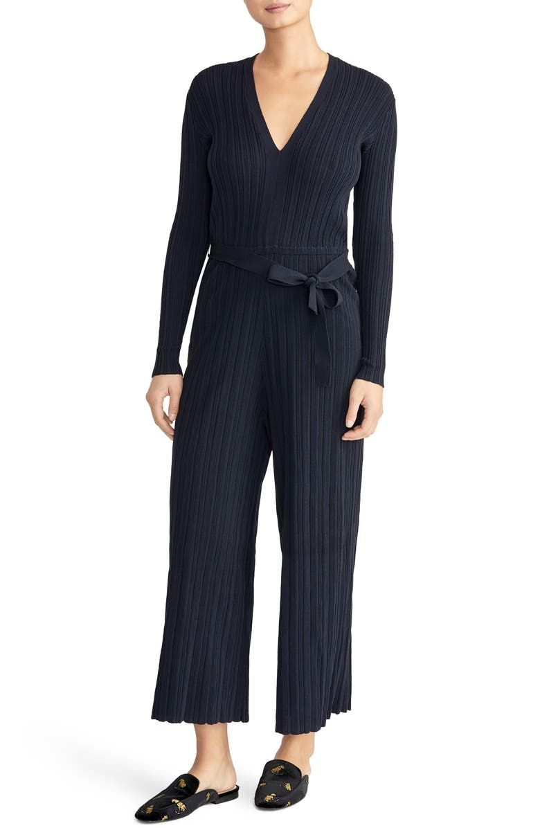 9c656484bf0 Rachel Roy Collection Long Sleeve Ribbed Jumpsuit
