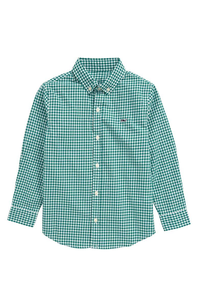 VINEYARD VINES Arawak Gingham Button-Up Whale Shirt, Main, color, MISTLETOE
