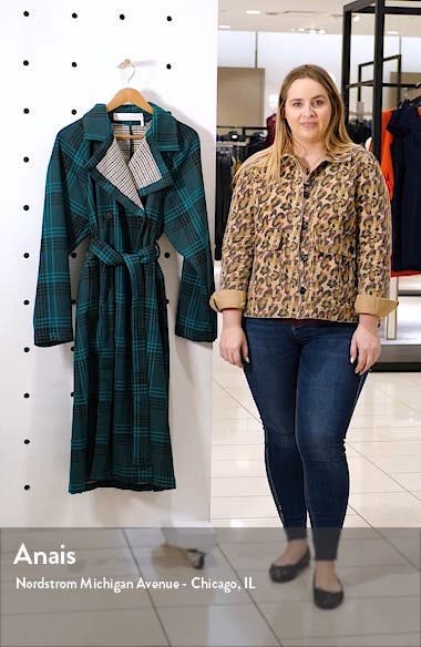 Belted Double Face Plaid Coat, sales video thumbnail