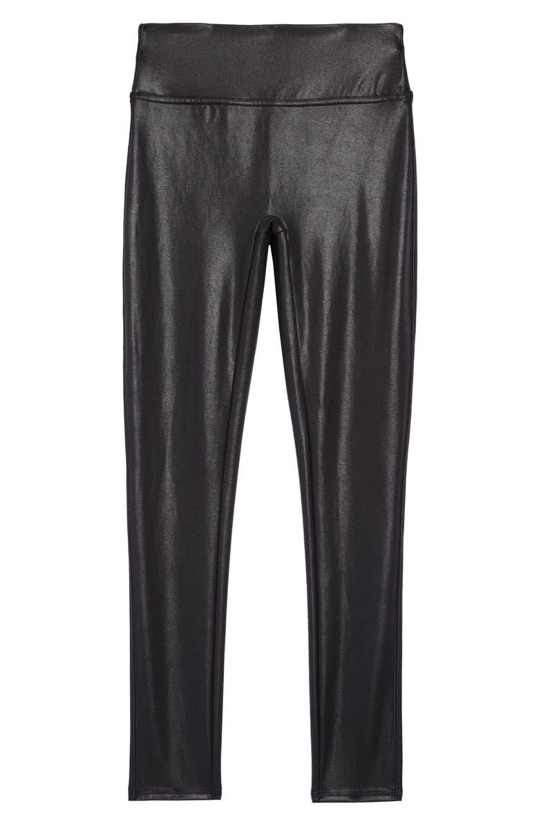 SPANX<SUP>®</SUP> Kids' Faux Leather Leggings, Main, color, BLACK
