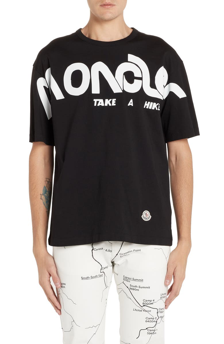 MONCLER GENIUS x 2 1952 Moncler New Logo Graphic T-Shirt, Main, color, BLACK
