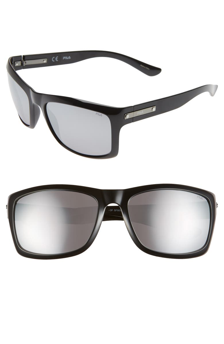 FILA 59mm Polarized Square Sunglasses