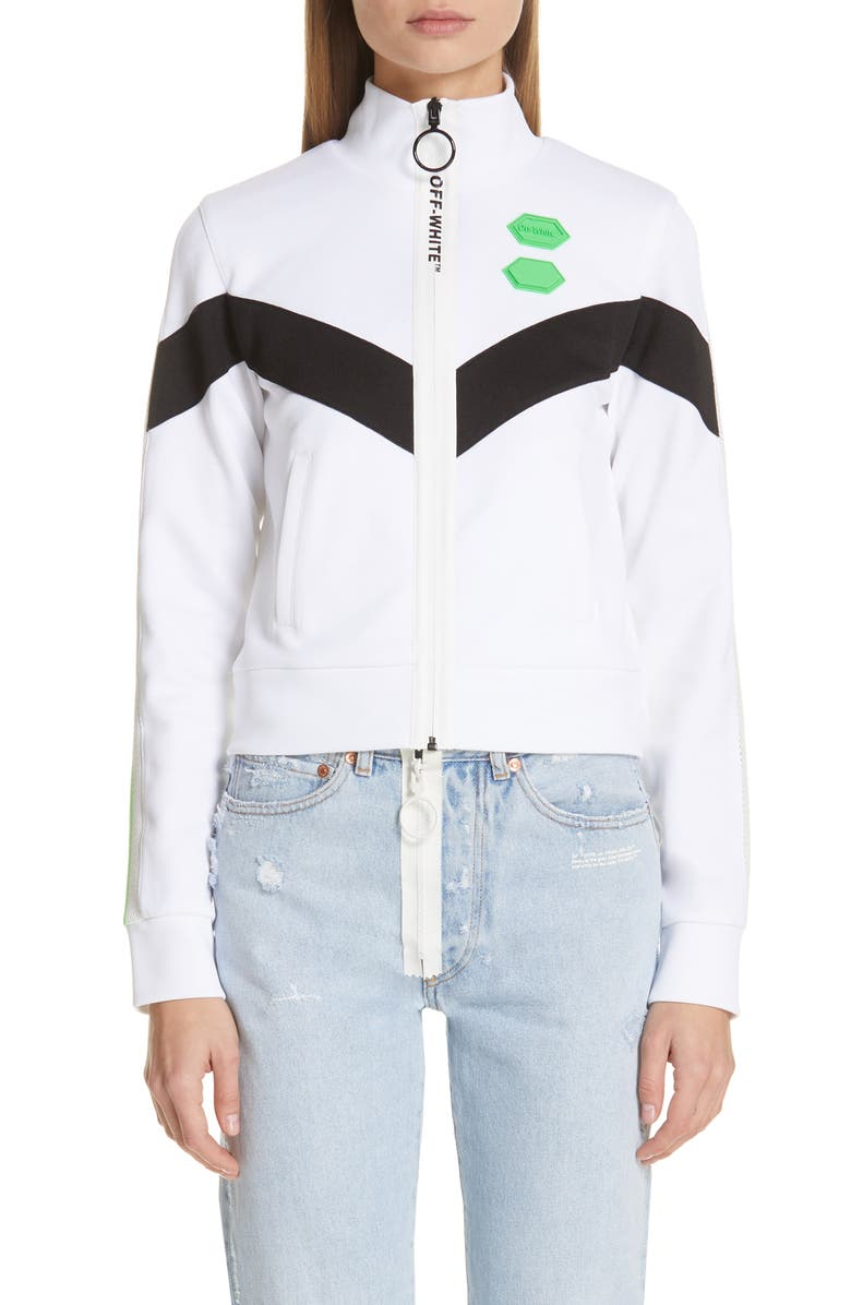 OFF-WHITE Track Sweatshirt, Main, color, 100