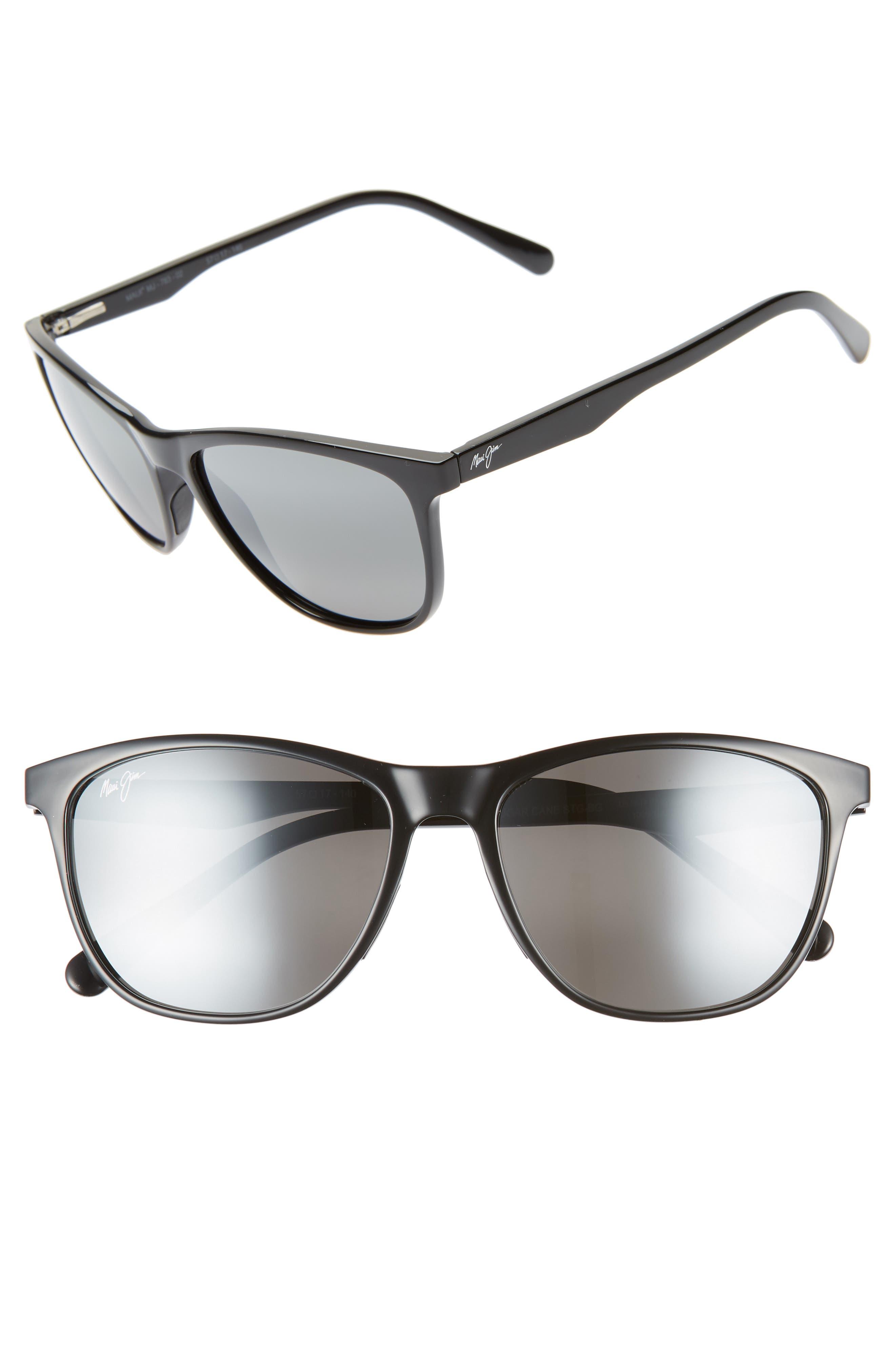 Maui Jim Sugar Cane 57Mm Polarizedplus2 Sunglasses - Gloss Black/ Neutral Grey