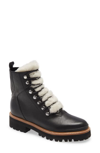 Image of Marc Fisher LTD Izzie Genuine Shearling Lace-Up Boot