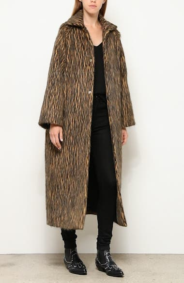 Long Animal Print Coat, video thumbnail