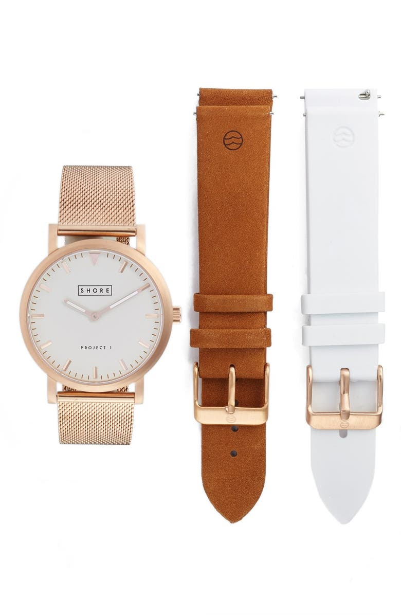 SHORE PROJECTS Watch & Strap Box Set, 39mm, Main, color, 200