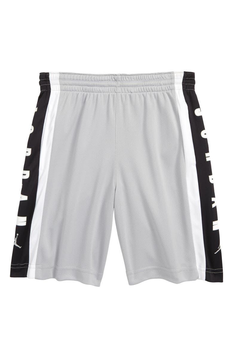 JORDAN Rise3 Dri-FIT Basketball Shorts, Main, color, LT SMOKE GREY