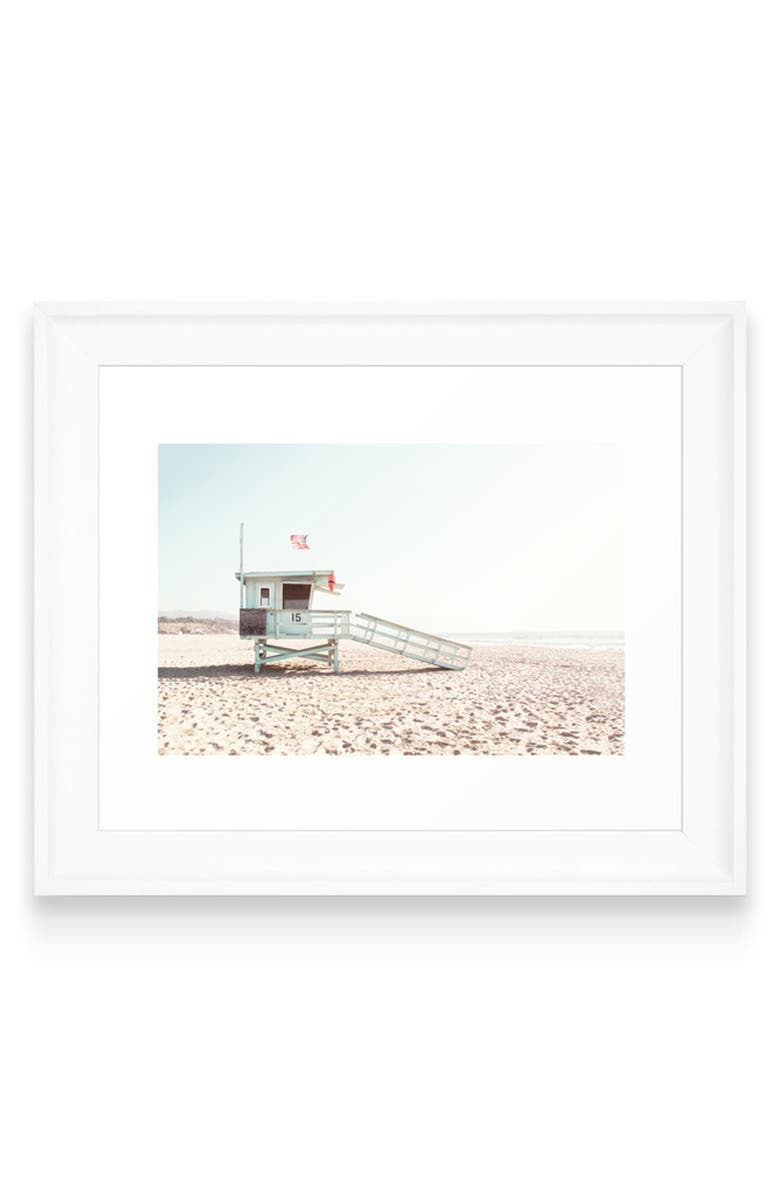 DENY DESIGNS Somewhere in Cali Art Print, Main, color, WHITE FRAME- 8X10
