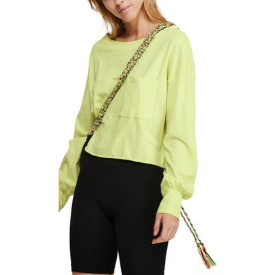 Free People Austin Long Sleeve Shirt, Green