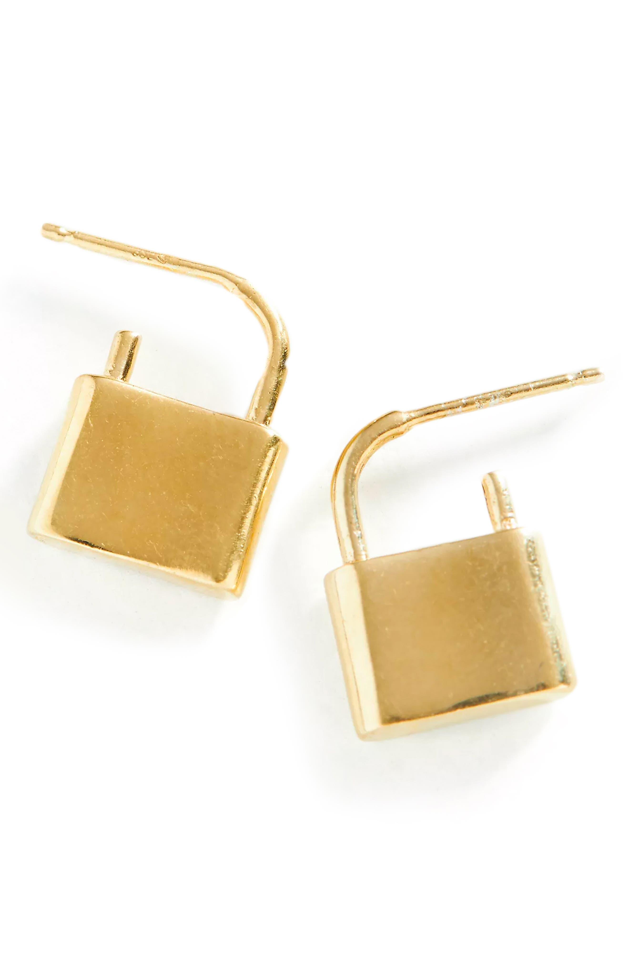 Holmes Lock Drop Earrings