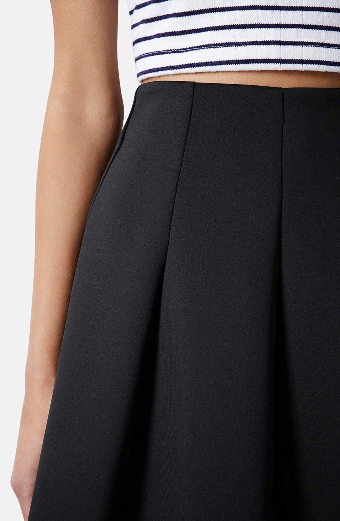 ,                             Pleated Scuba Skirt,                             Alternate thumbnail 5, color,                             001
