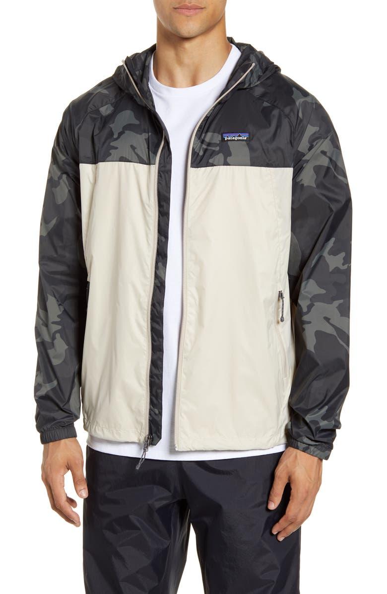 PATAGONIA Mojave Trails Packable Windbreaker Jacket, Main, color, PUMICE