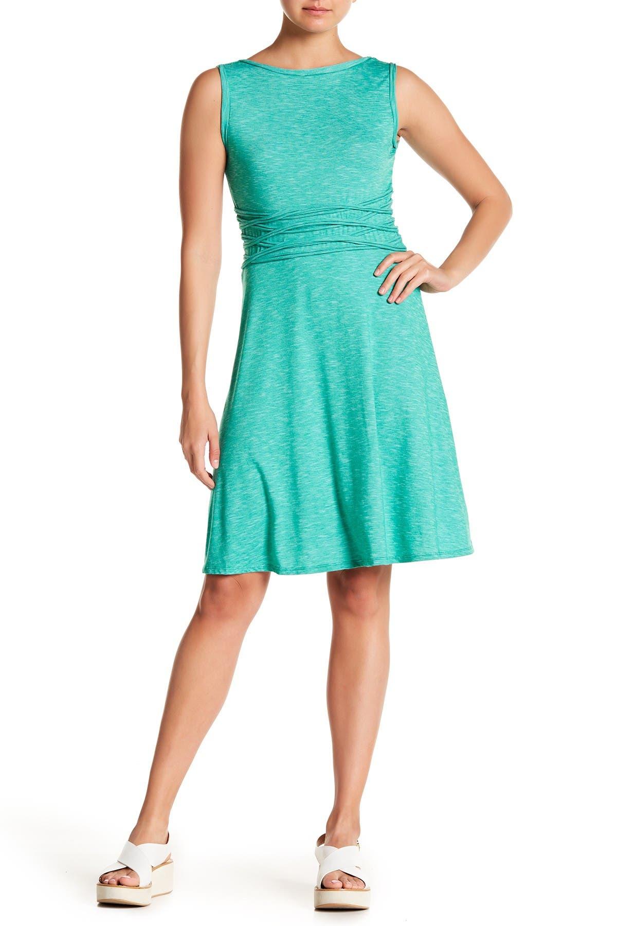 Image of Max Studio Speckled Jersey Dress