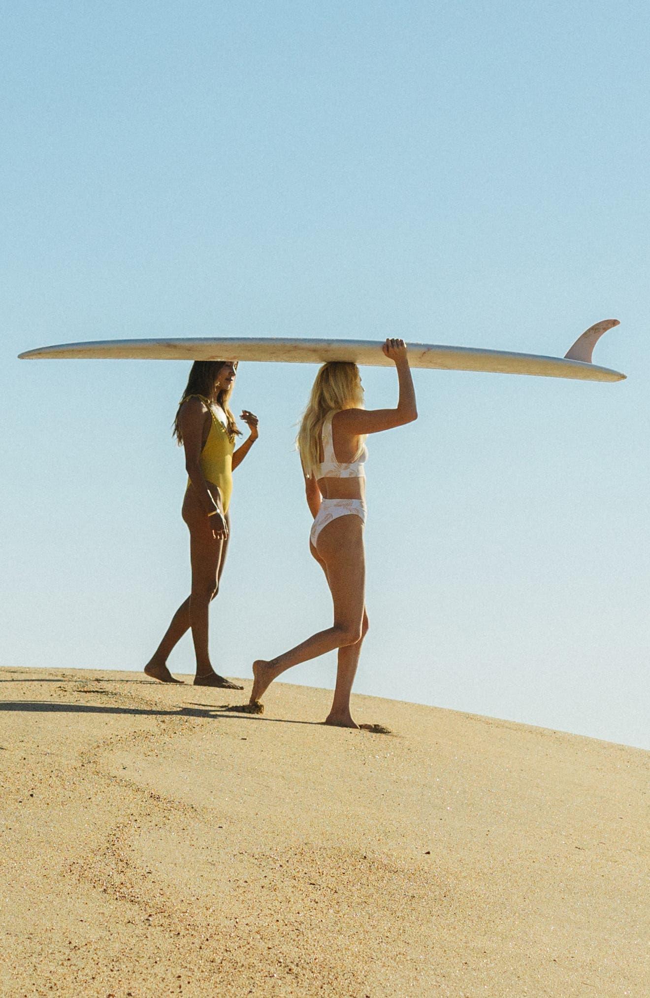 ,                             x Sincerely Jules Dos Palmas Maui High Waist Bikini Bottoms,                             Alternate thumbnail 12, color,                             SEASHELL