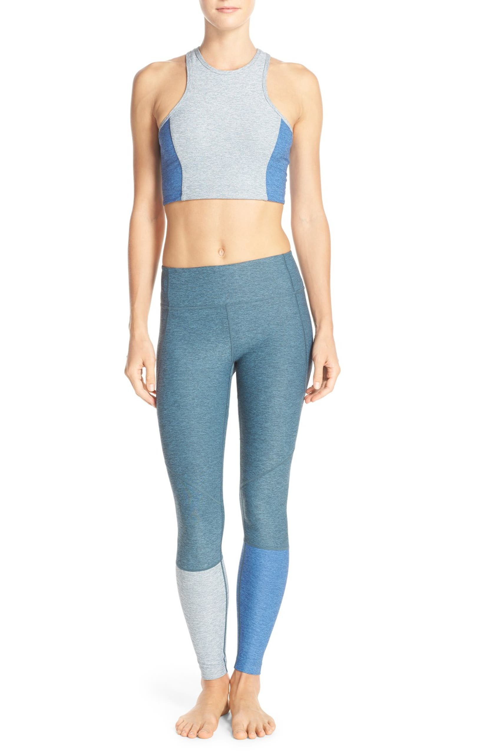 db283785bd383 Outdoor Voices 'Dipped Warmup' Colorblock Compression Leggings | Nordstrom