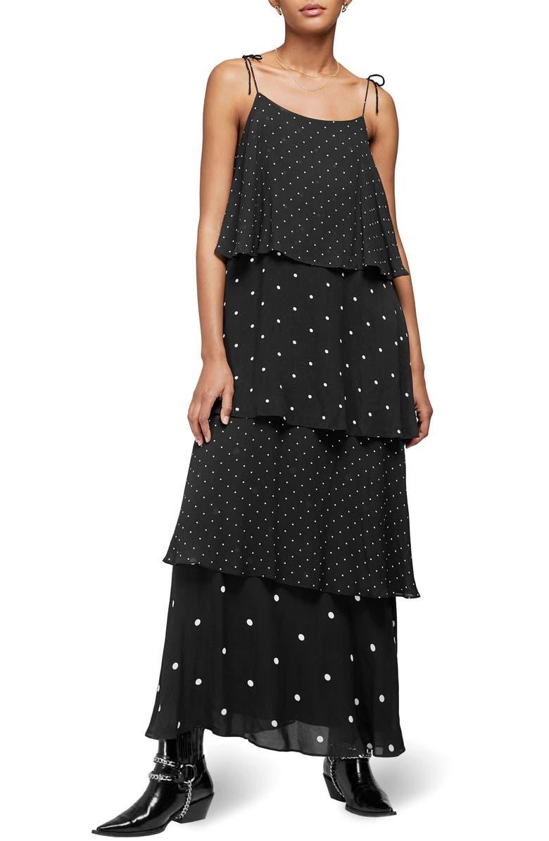 ANINE BING Daisy Maxi Dress, Main, color, BLACK/ WHITE
