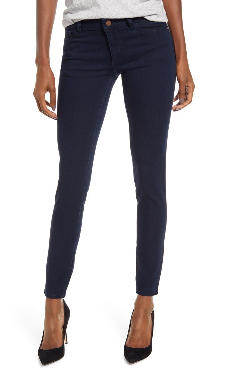 DL1961 Emma Ankle Skinny Jeans, Main, color, STOWE