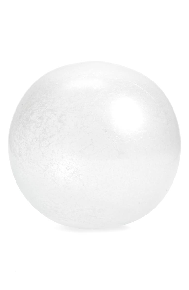 RACHEL PARCELL Glass Orb, Main, color, WHITE