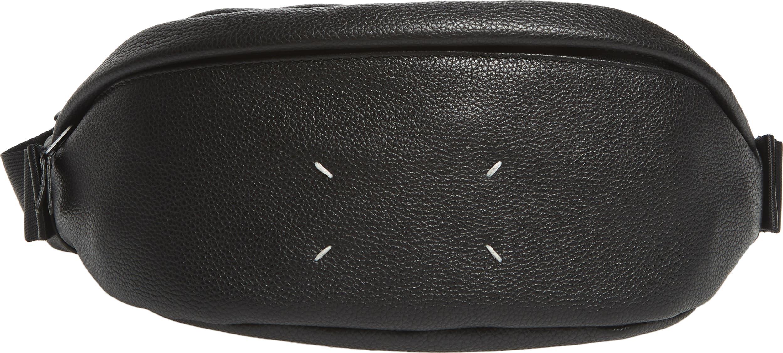 MAISON MARGIELA men Travel Accessories leather luggage name tag White Black