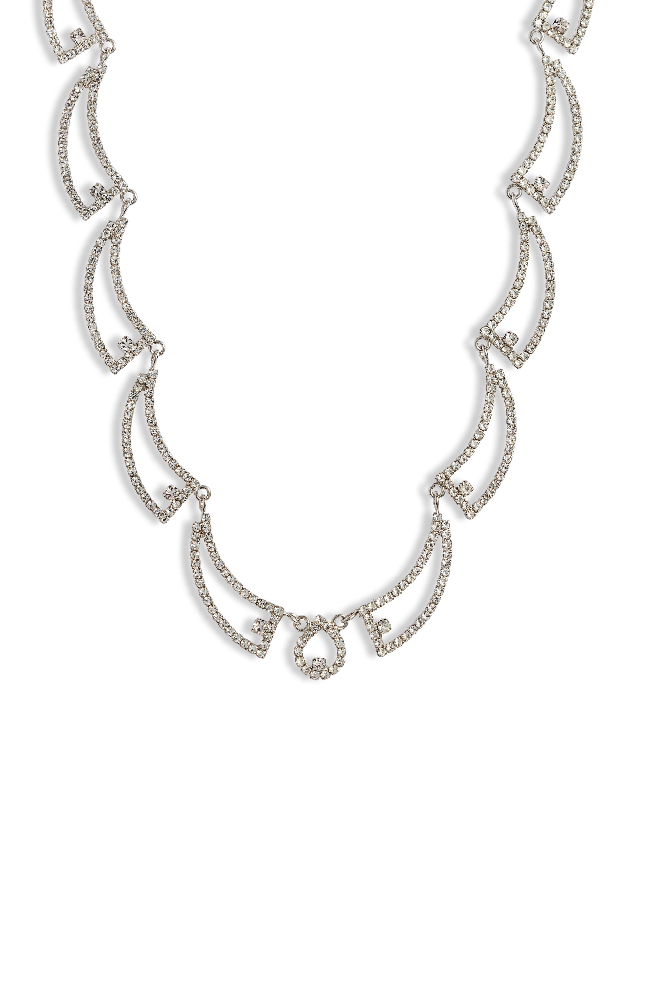Open Swag Crystal Necklace