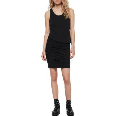 Allsaints Toby Ruched Body-Con Dress, Black
