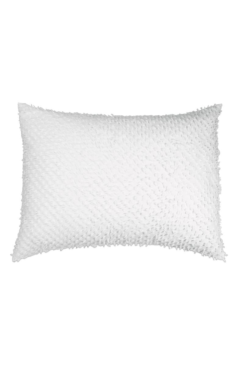 PERI HOME Dot Fringe Sham, Main, color, WHITE
