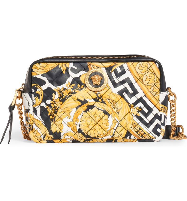Wild Print Leather Camera Bag by Versace First Line