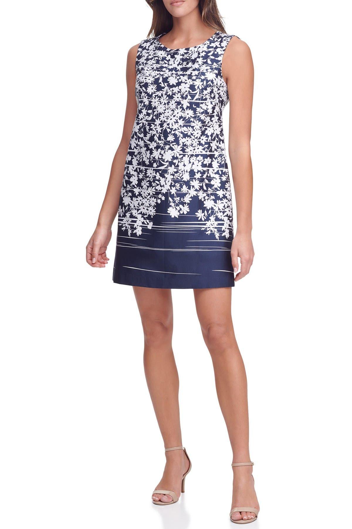 Tommy Hilfiger Dresses SLEEVELESS JASMINE BORDER SHIFT DRESS