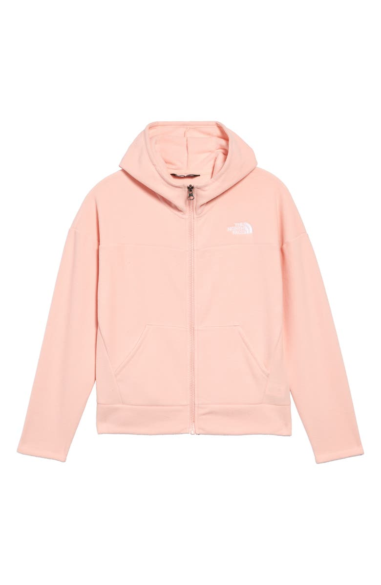 THE NORTH FACE Glacier Full-Zip Hoodie, Main, color, IMPATIENS PINK