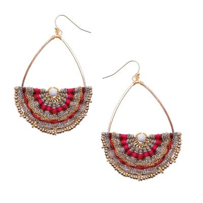 Nakamol Design Woven Teardrop Earrings