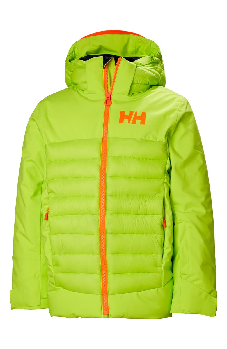 HELLY HANSEN Summit Waterproof Insulated Ski Jacket, Main, color, AZID LIME