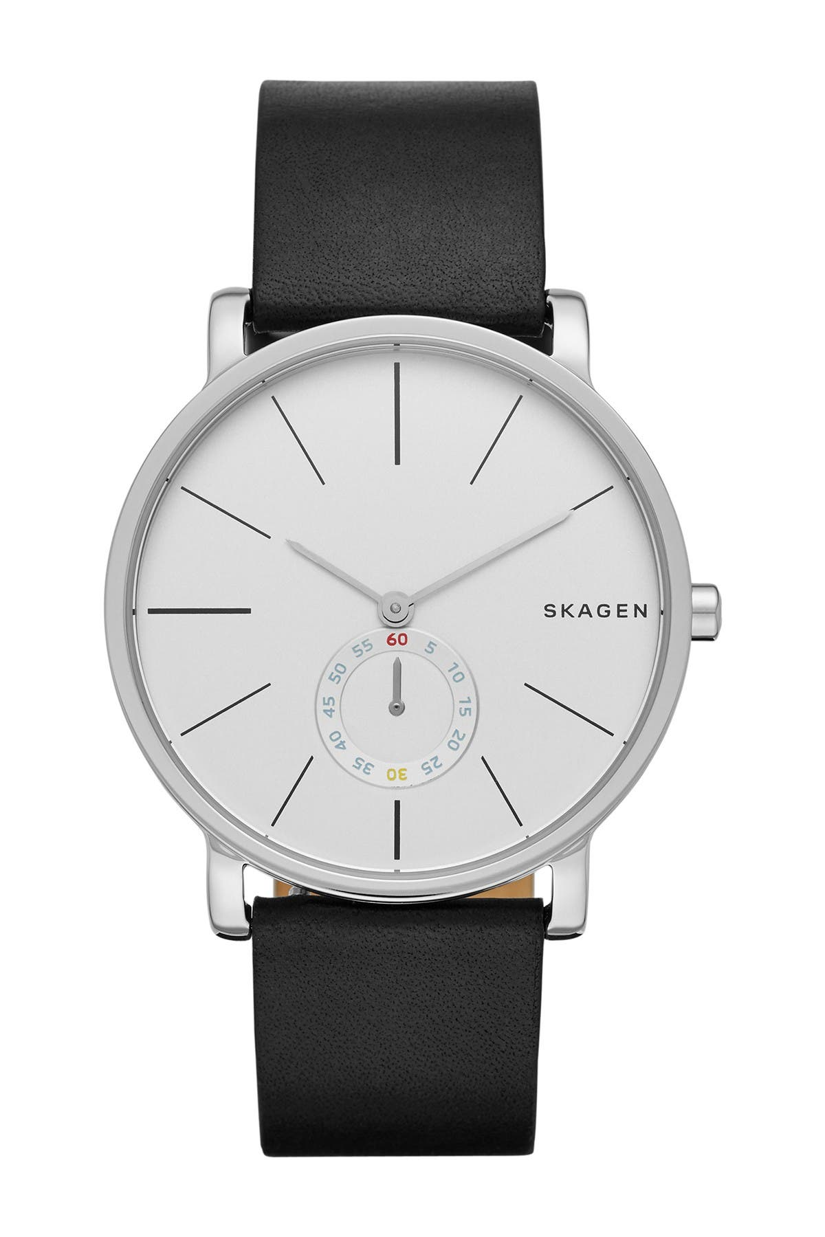 Image of Skagen Men's Hagen Leather Strap Watch, 40mm