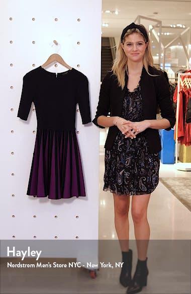 Salyee Short Sleeve Knit Skater Dress, sales video thumbnail