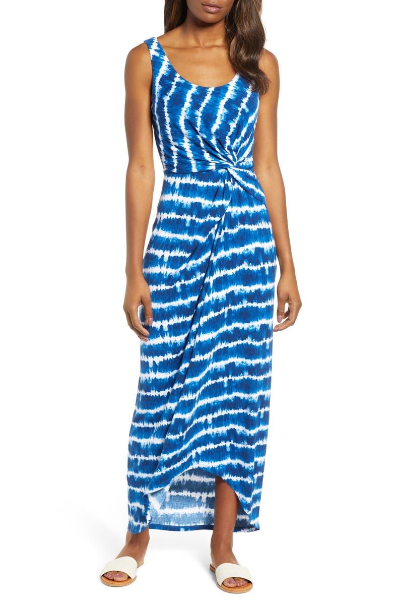 TOMMY BAHAMA Oliana Maxi Dress, Main, color, ISLAND NAVY