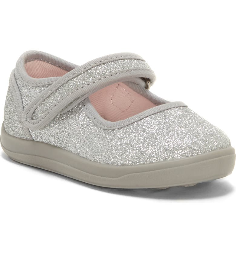 SOLE PLAY Laina Glittery Mary Jane Sneaker, Main, color, SILVER