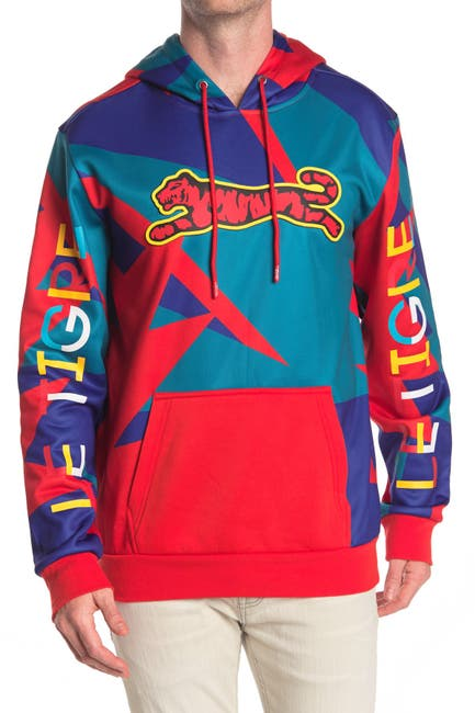 Image of Le Tigre Color Geo Pullover Hoodie