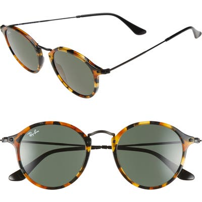 Ray-Ban 4m Retro Sunglasses - Spotted Black Havana/ Green