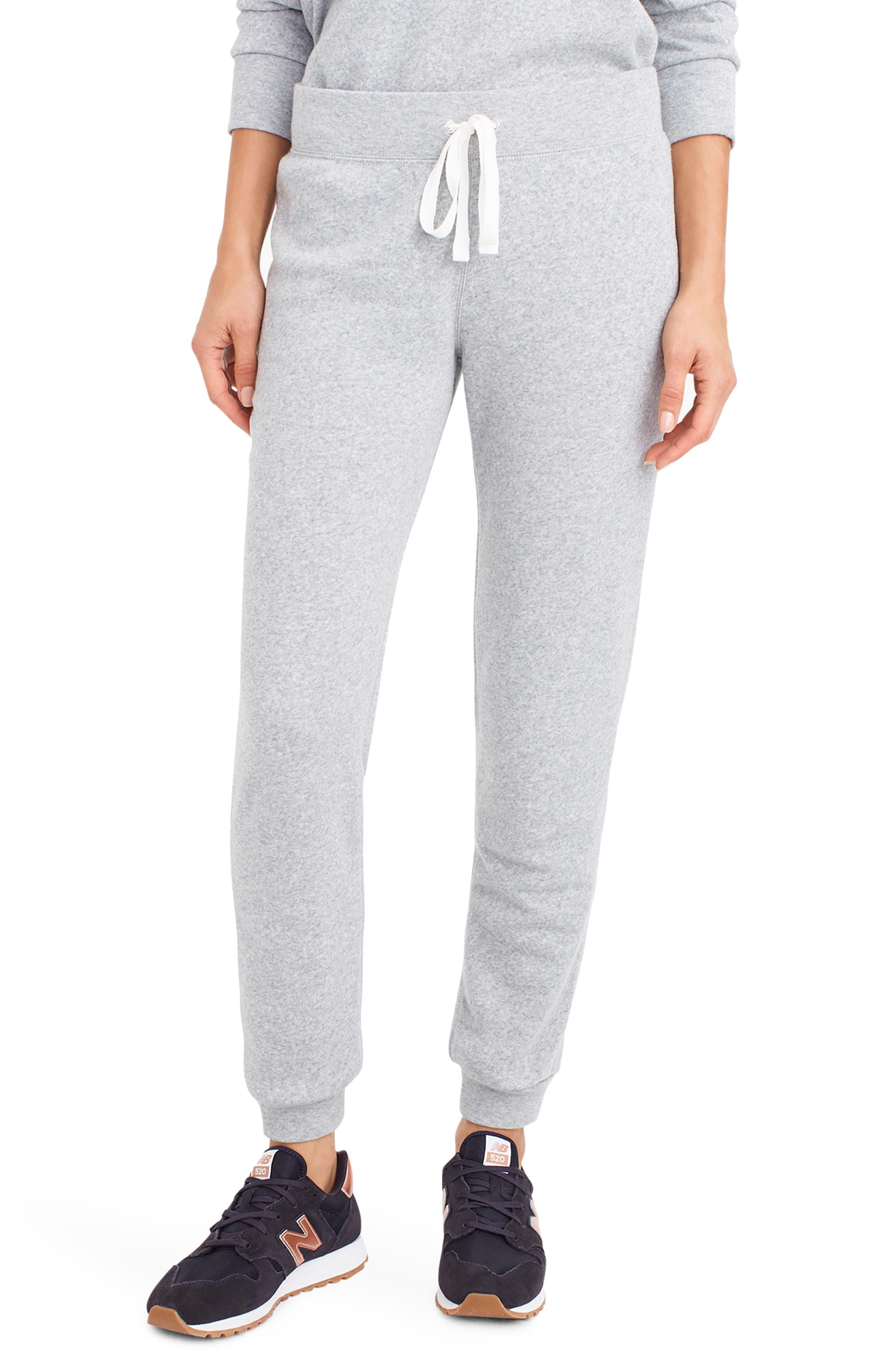 J.crew Supersoft Fleece Sweatpants, Grey