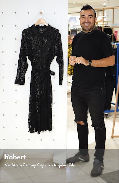 Lacey Sheer Lace Long Sleeve Dress, sales video thumbnail