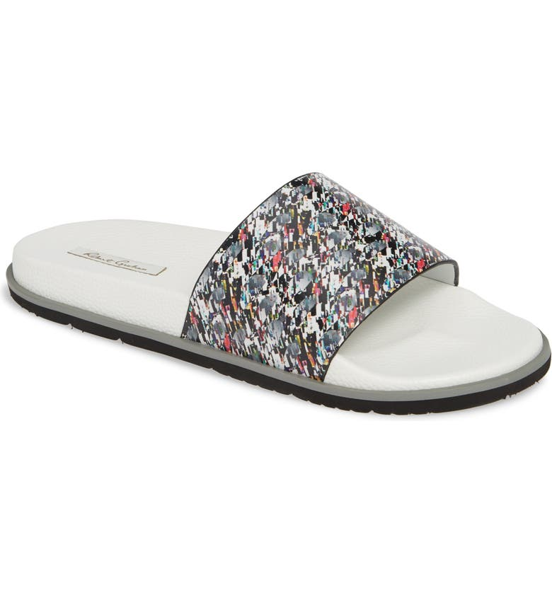 ROBERT GRAHAM Maxfield Slide Sandal, Main, color, 111