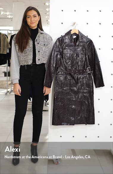Tula Faux Alligator Trench Coat, sales video thumbnail
