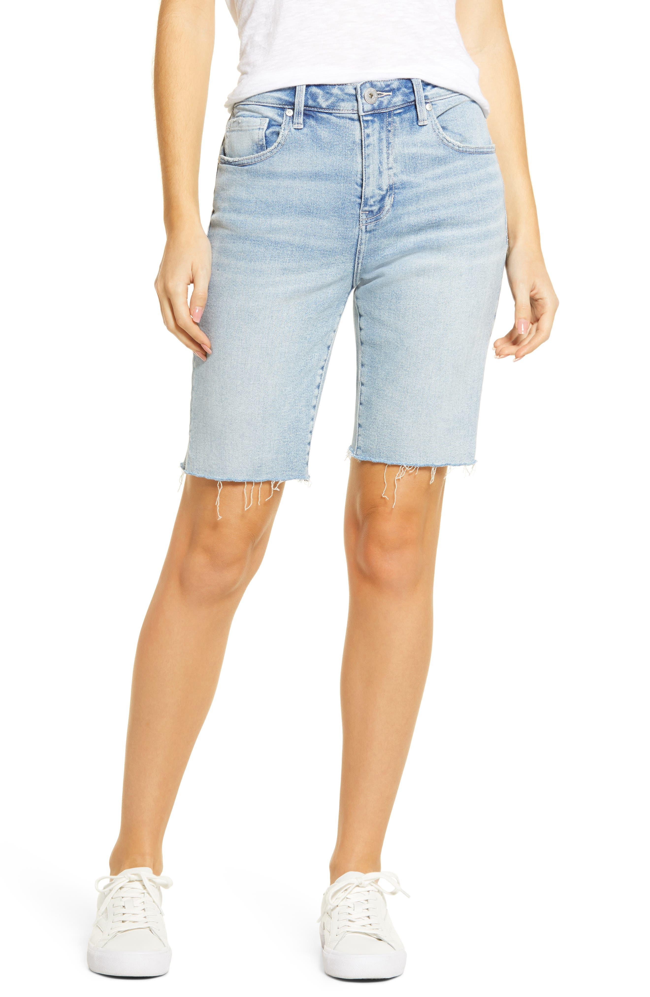 The City Shorts Cutoff Denim Bermuda Shorts