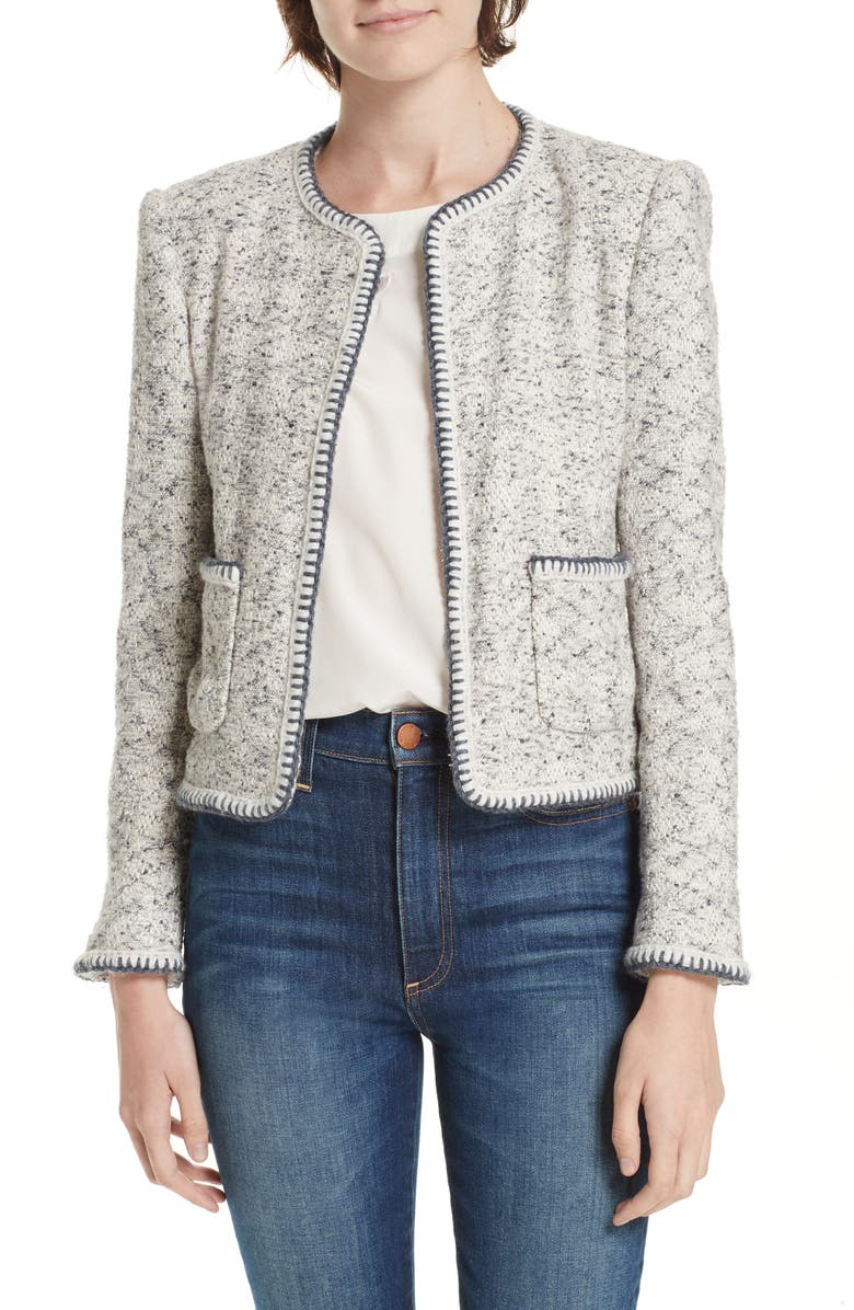 450647a60 Rebecca Taylor Speckled Tweed Jacket | Nordstrom